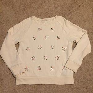 Crewcuts 12 Girls Youth Snowflake Sweater E6142